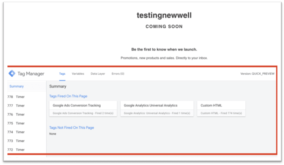 How to Test Google Tag Manager [Preview Mode] 1